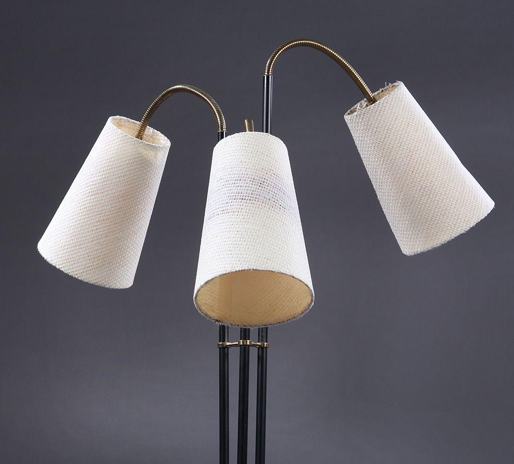 d nische stehlampe mit drei leuchten 1950er bei pamono kaufen. Black Bedroom Furniture Sets. Home Design Ideas