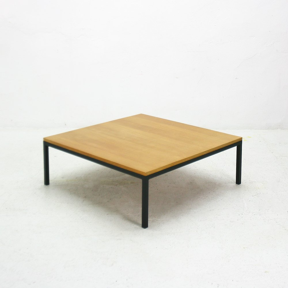 Low Ash And Steel Coffee Table 1960s For Sale At Pamono