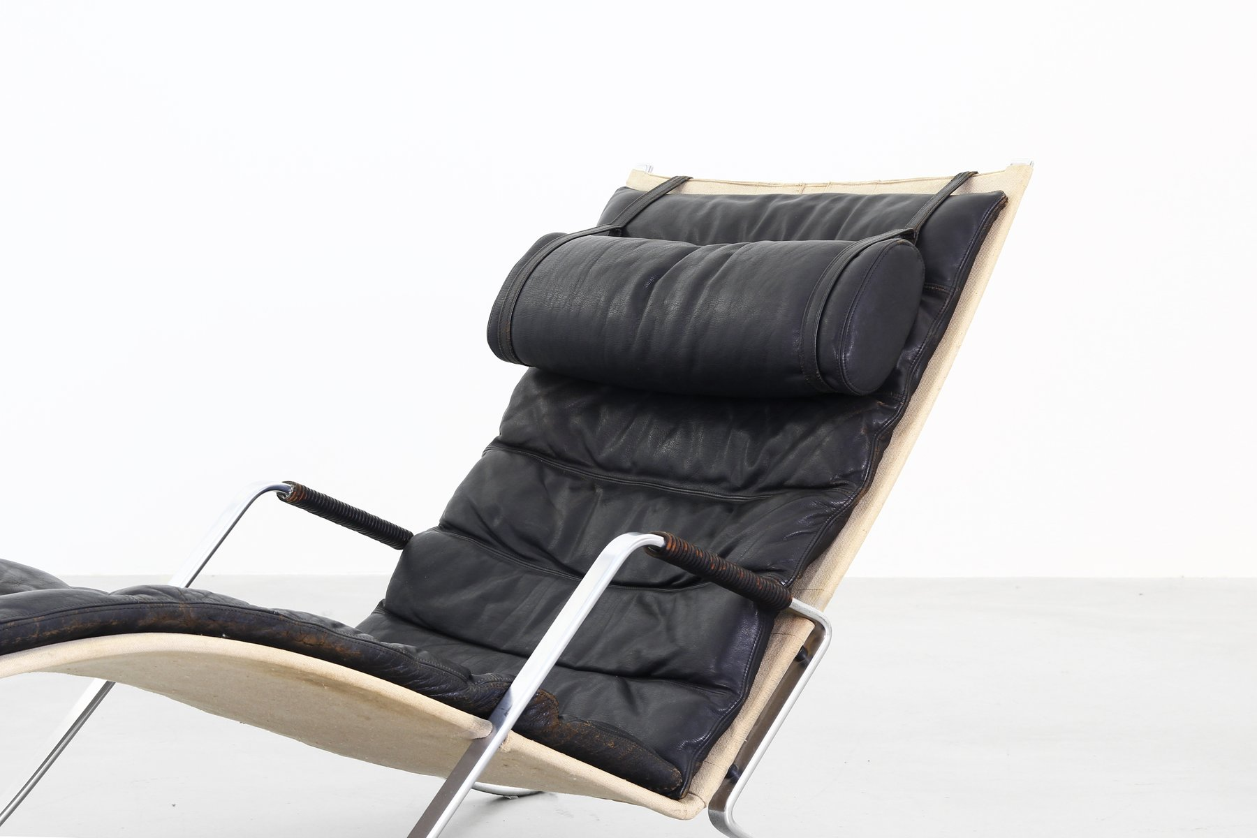 Grasshopper chaise lounge chair by fabricius kastholm for for 1950s chaise lounge