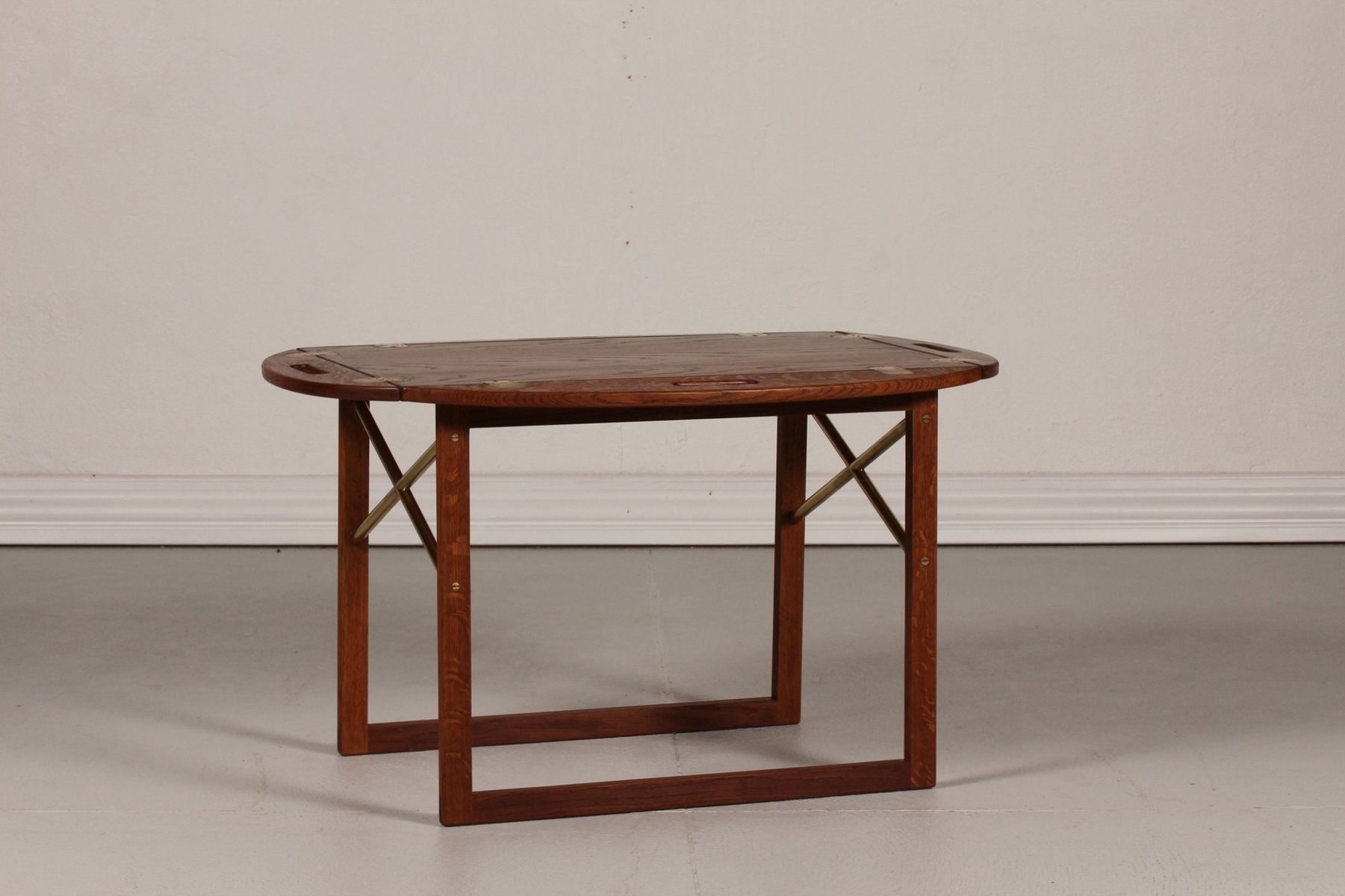Danish Oak Tray Coffee Table by Svend Langkilde 1960s for sale at