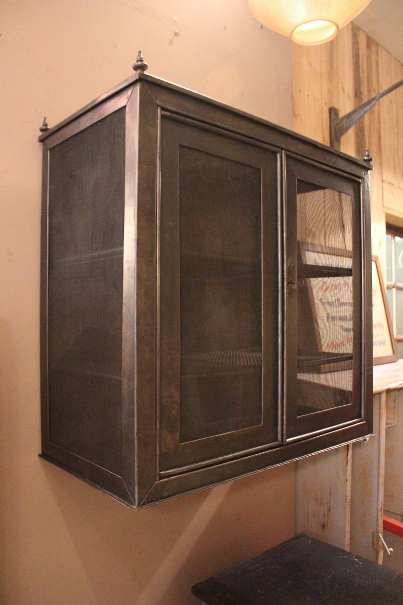 French Metal Pantry Cabinet 1930s For Sale At Pamono