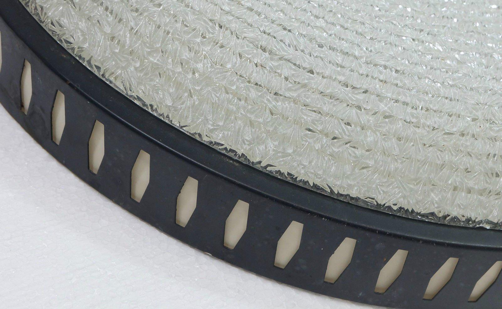 gro e deutsche metall riffelglas deckenlampe 1960er bei. Black Bedroom Furniture Sets. Home Design Ideas