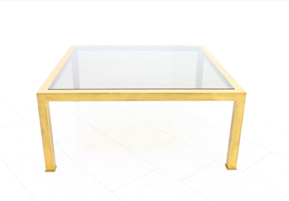 French painted metal and smoked glass coffee table 1960s for French glass coffee table