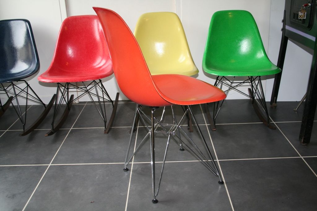 American orange dsr chair by charles ray eames for herman miller 1960 - Charles eames dsr chair ...