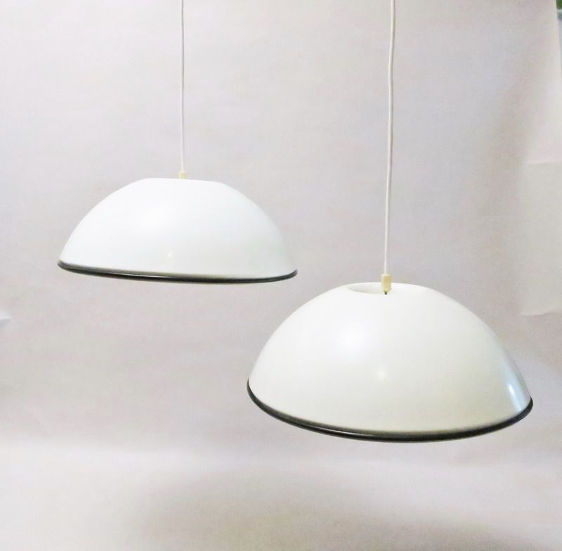 midcentury relemme hanging lamps by achille castiglioni for flos set of 2
