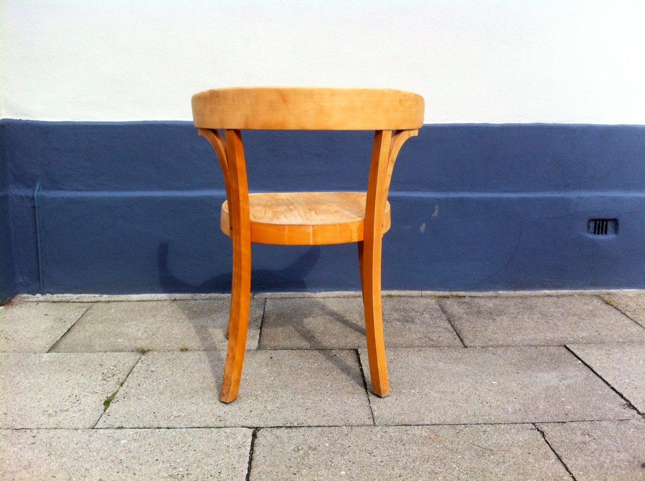 gebogener d nischer vintage schreibtischstuhl aus buche im bauhaus stil von magnus stephensen. Black Bedroom Furniture Sets. Home Design Ideas