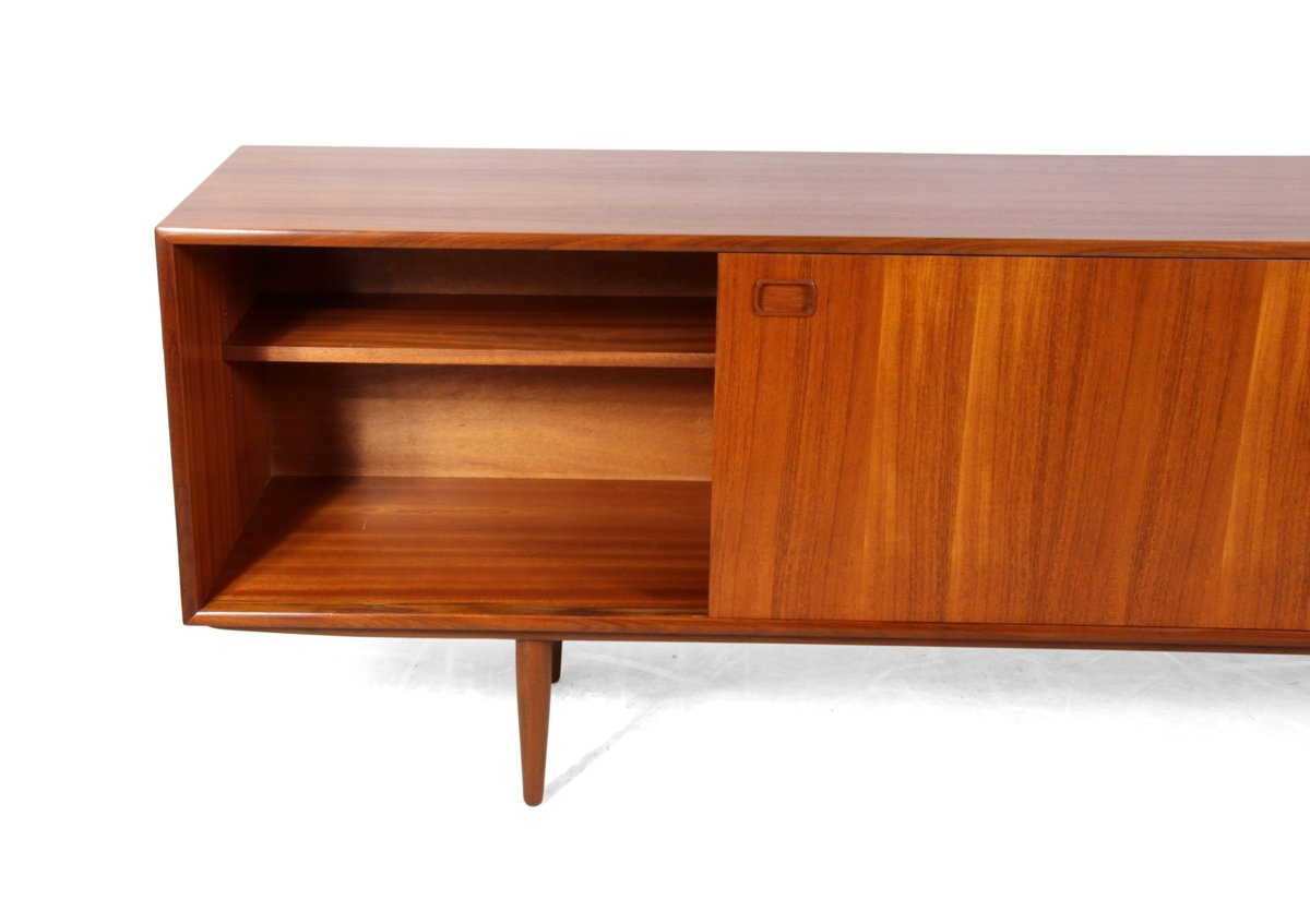 british teak sideboard with sliding doors 1960s for sale. Black Bedroom Furniture Sets. Home Design Ideas