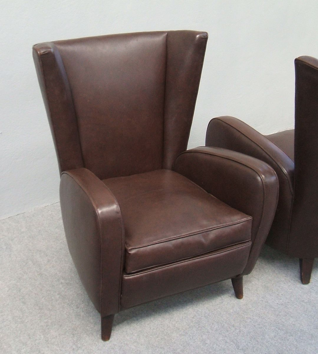 Italian leather armchairs 1940s set of 2 for sale at pamono for 2 armchairs for sale