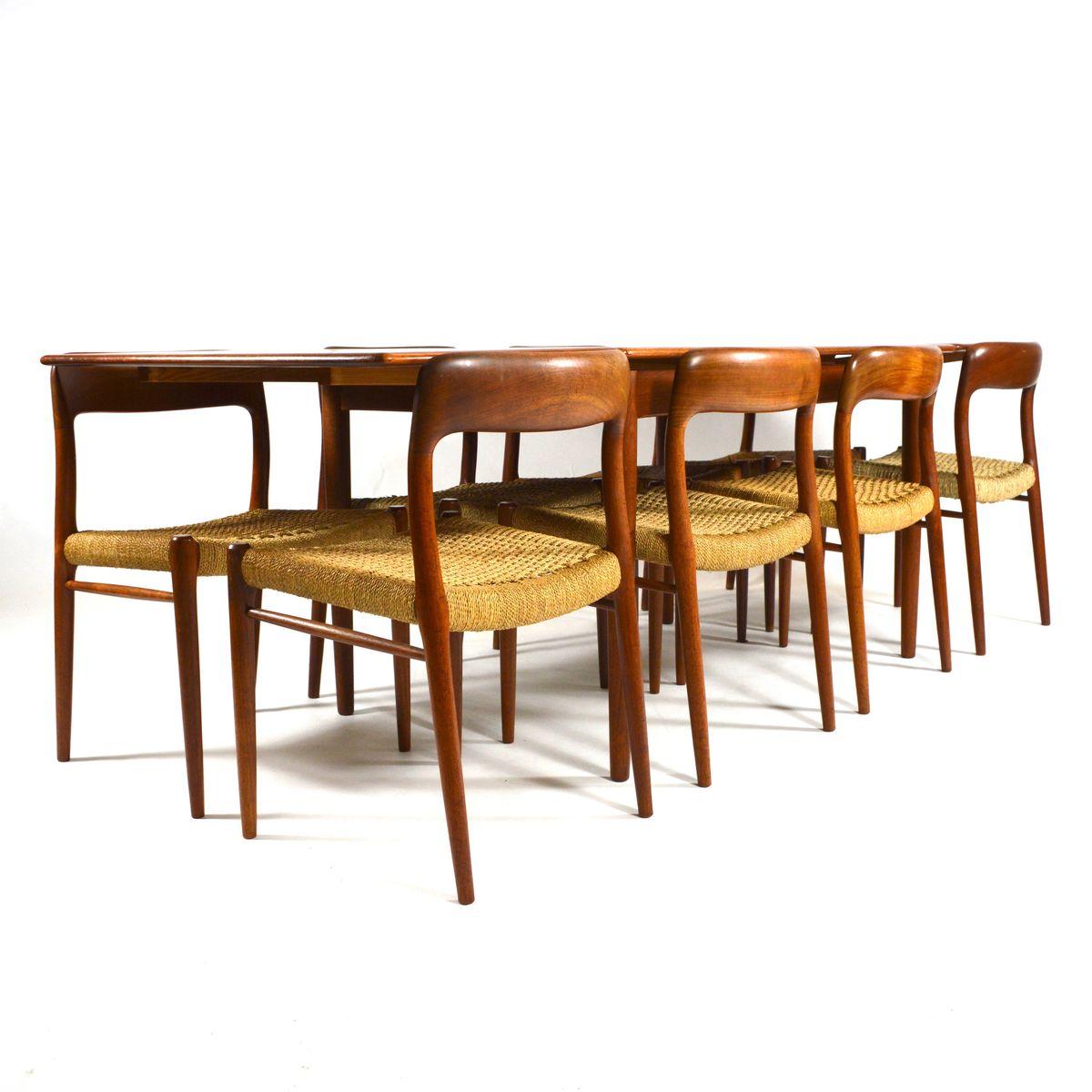 Teak Dining Room Set: Mid-Century Danish Teak Dining Set By Niels O. Møller For