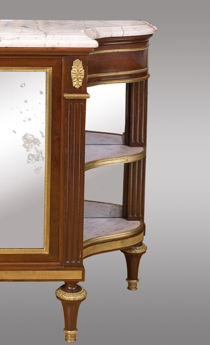 antique french mahogany console desserte for sale at pamono. Black Bedroom Furniture Sets. Home Design Ideas