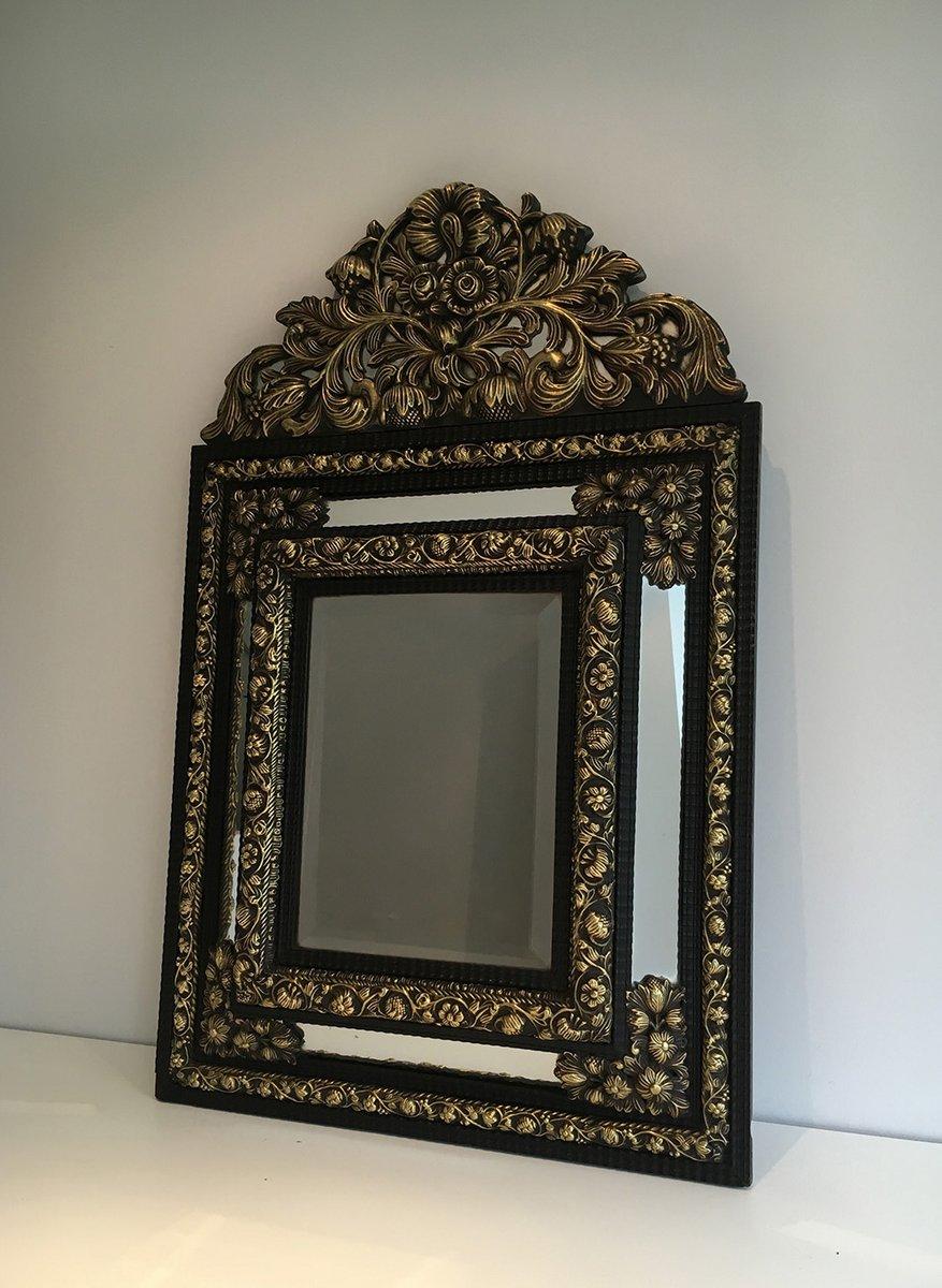 antiker spiegel mit ausgepr gtem kupfer 1880er bei pamono. Black Bedroom Furniture Sets. Home Design Ideas