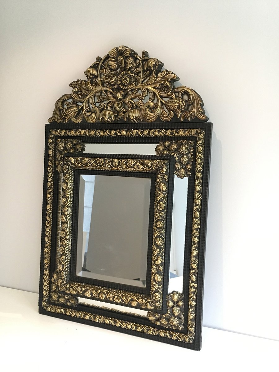 Antique Embossed Copper Mirror 1880s For Sale At Pamono