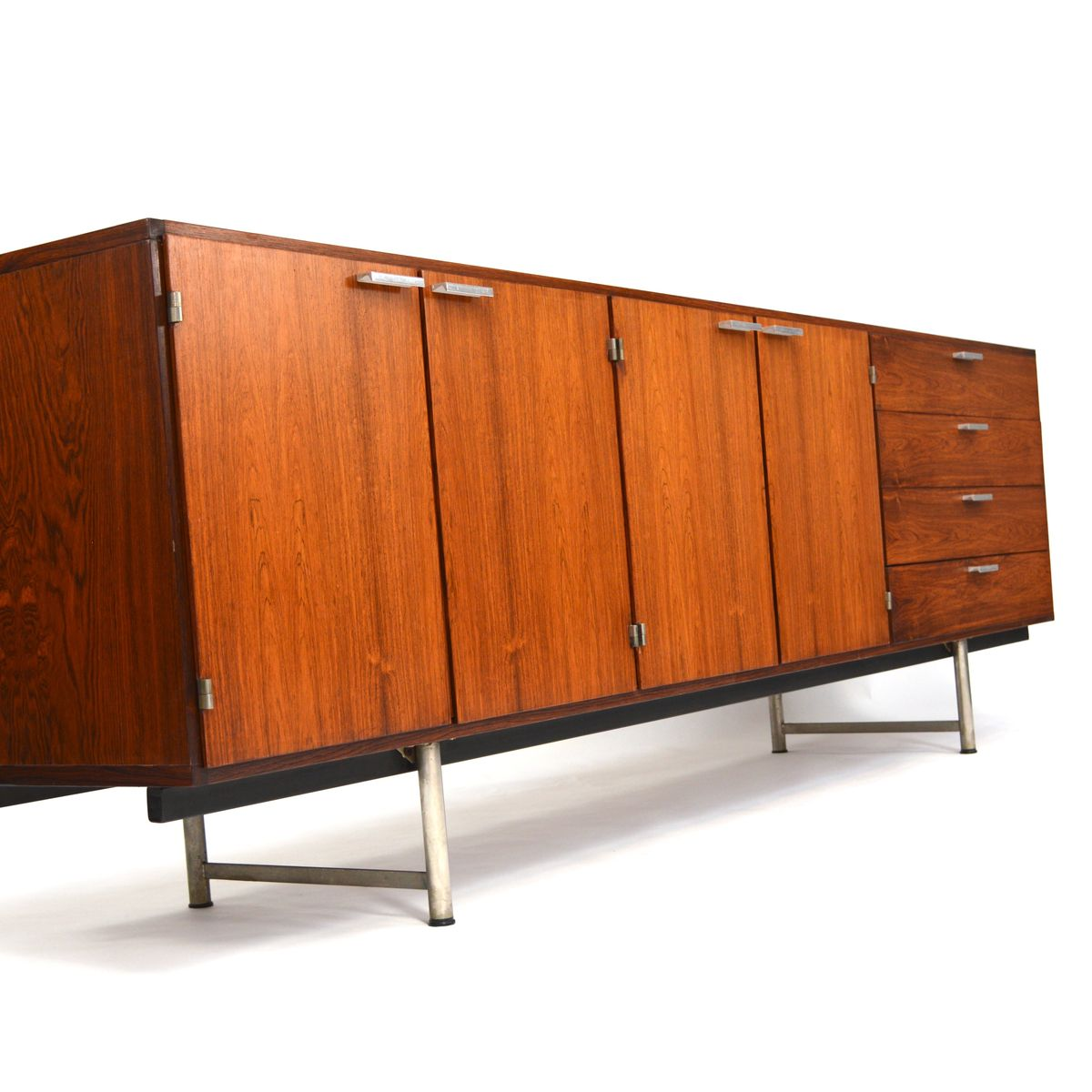 Dutch mid century rosewood sideboard by cees braakman for - Sideboard mid century ...