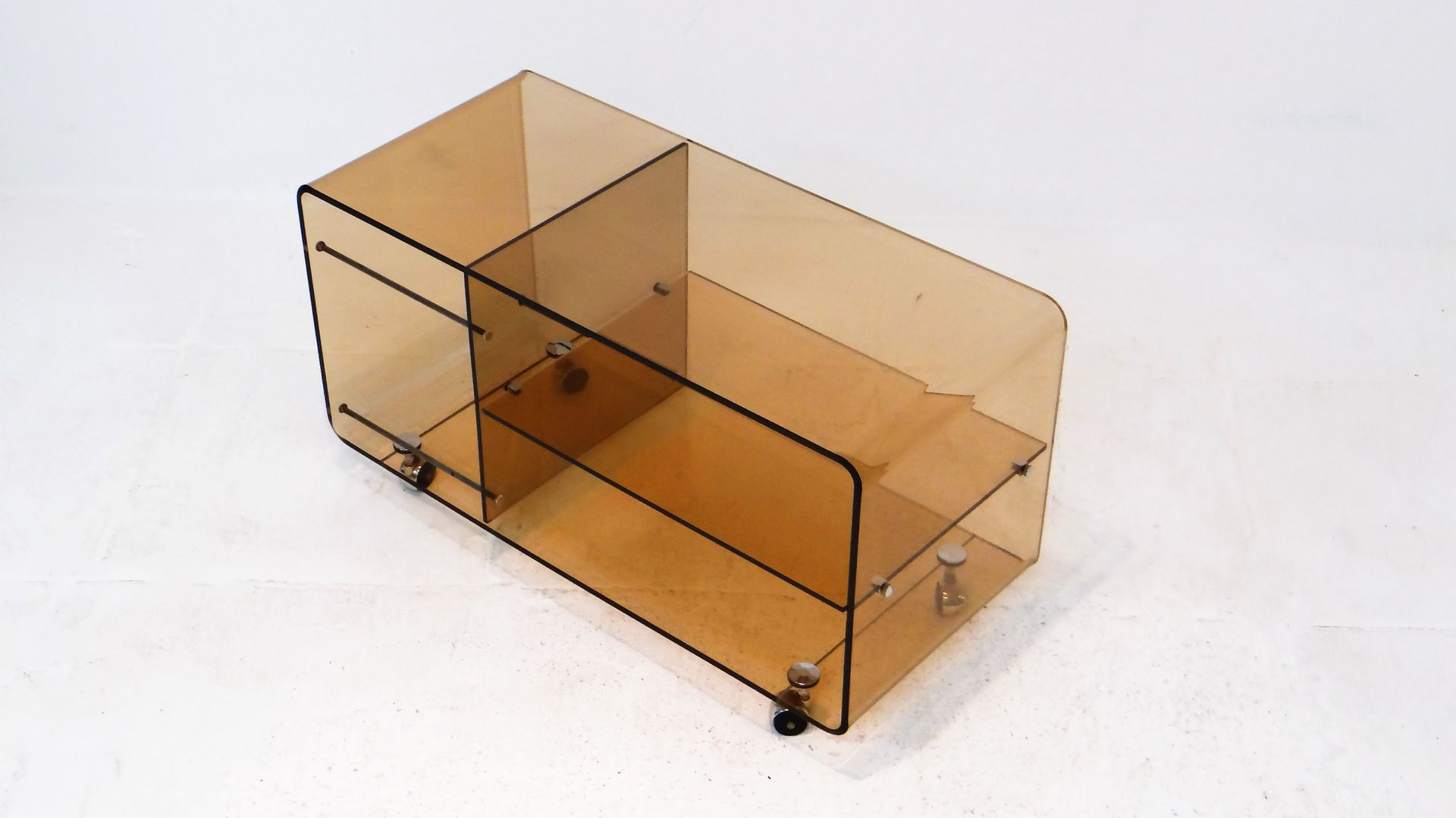 vintage plexiglas sideboard by michel dumas for sale at pamono. Black Bedroom Furniture Sets. Home Design Ideas