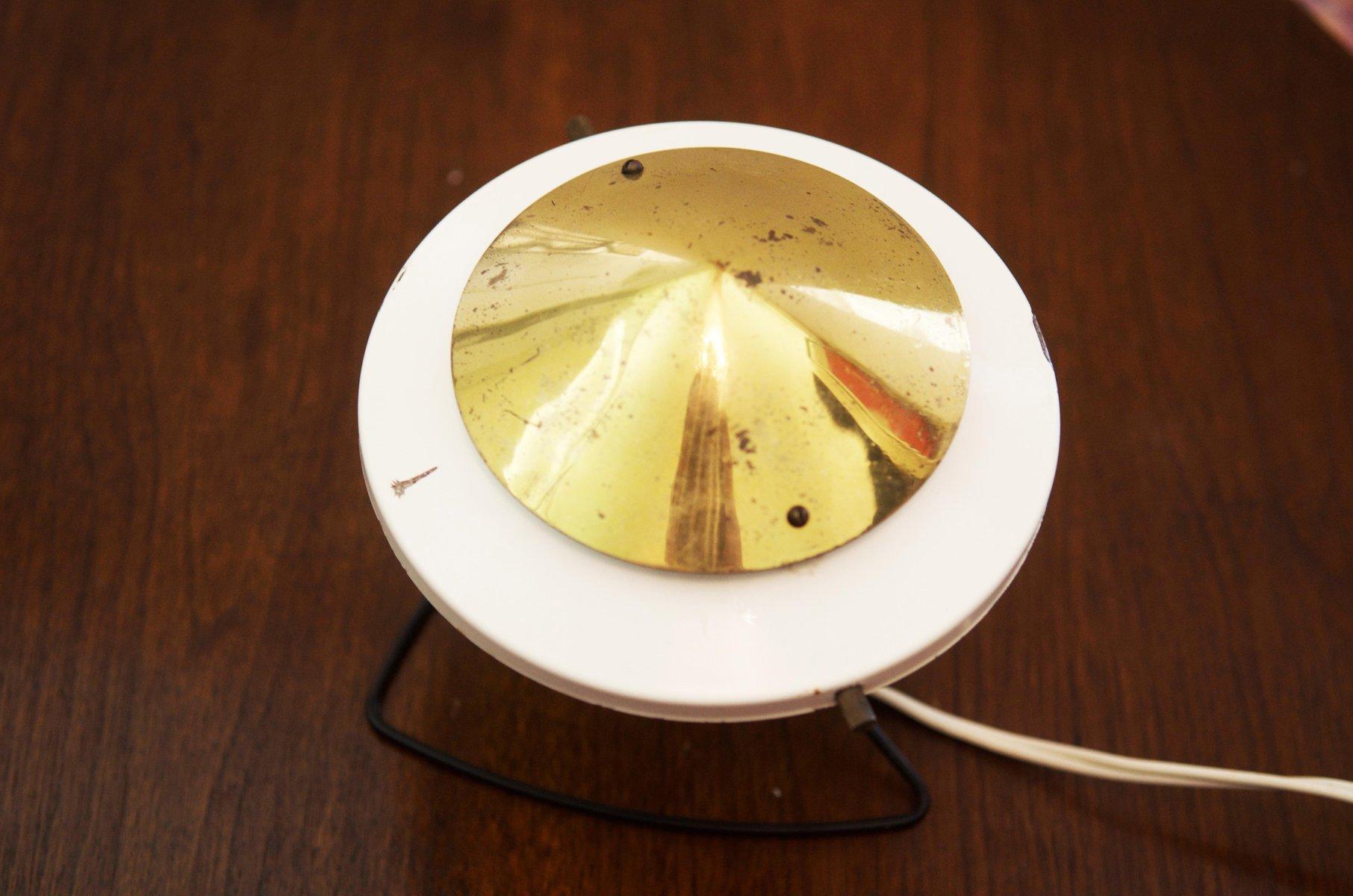 wei e mid century tisch oder wandlampe aus stahl. Black Bedroom Furniture Sets. Home Design Ideas