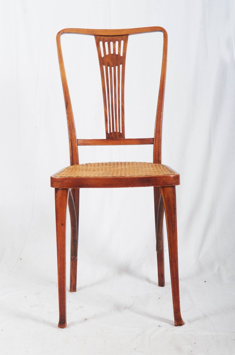 Antique Art Nouveau Beech And Cane Thonet Chairs From Thonet