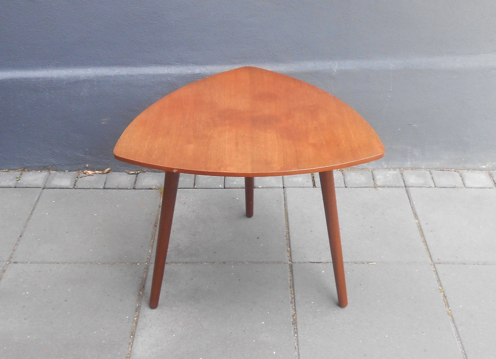 Danish Triangular Guitar Pick Shaped Teak Coffee Table from MCM