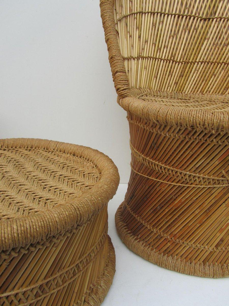 vintage spanish bamboo living room set 1970s set of 5