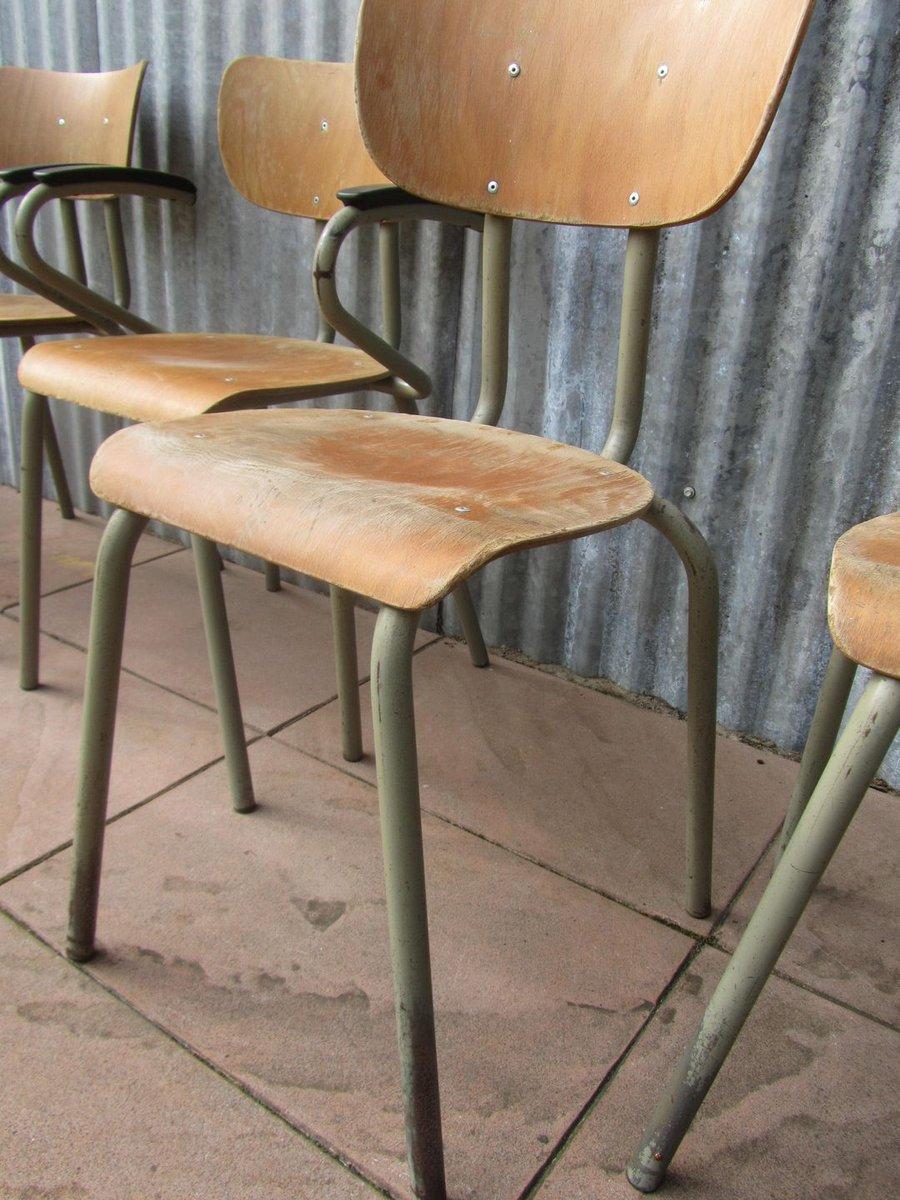 chaises industrielles d 39 ecole vintage de tubax belgique 1966 set de 6 en vente sur pamono. Black Bedroom Furniture Sets. Home Design Ideas