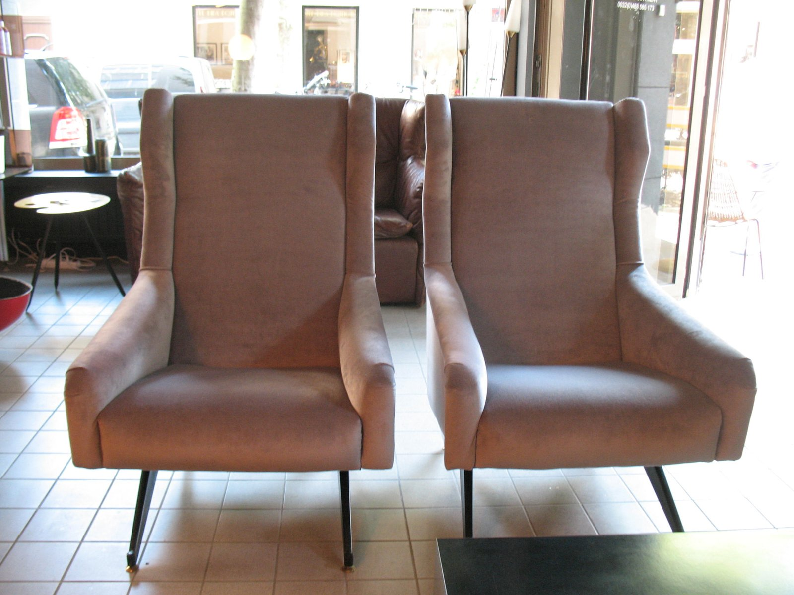 Italian Wingback Armchairs From Botto Amp Co 1960s Set Of