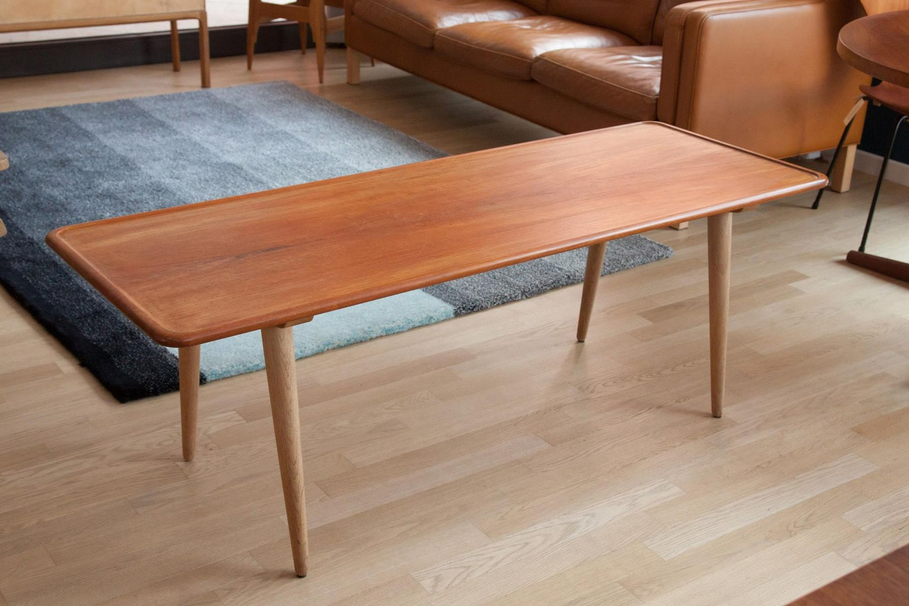 Superior Vintage Danish Coffee Table By Hans Wegner For Andreas Tuck