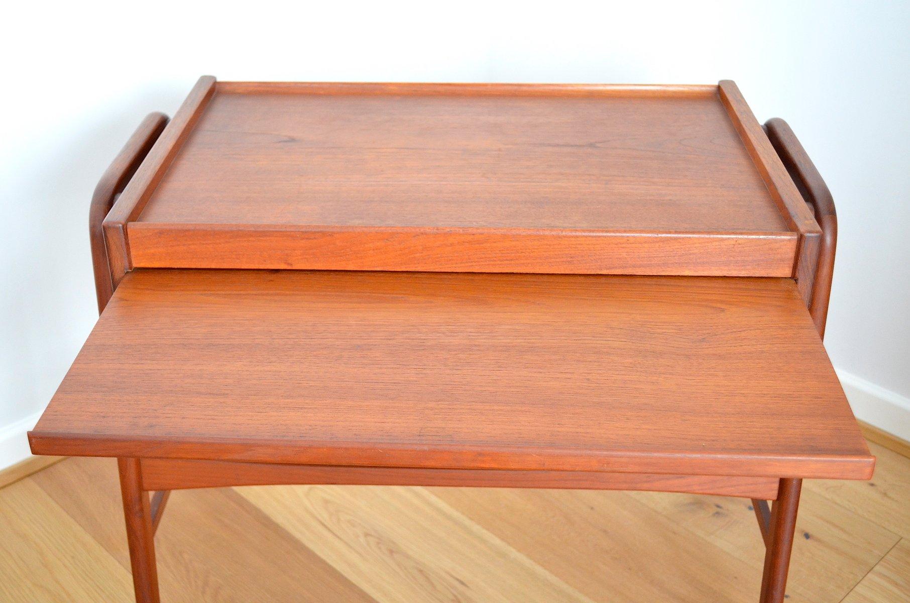 d nischer vintage teak servierwagen bei pamono kaufen. Black Bedroom Furniture Sets. Home Design Ideas