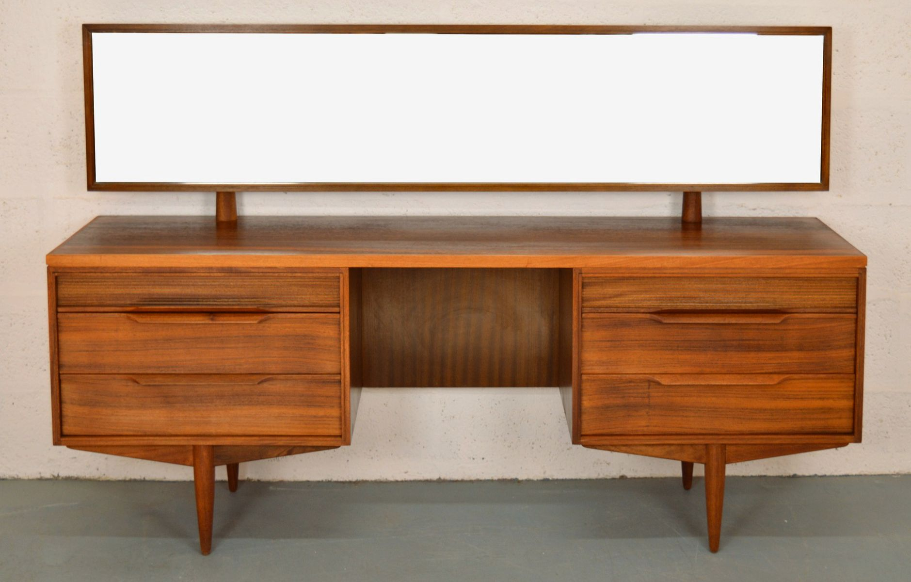 Mid century british rosewood dressing table from white and for White dressing table for sale