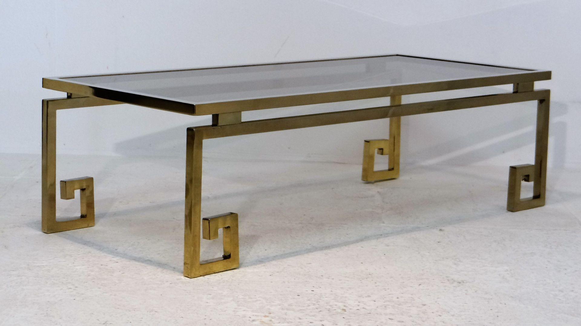 Vintage Gilded Chrome Greek Key Coffee Table 11 1 110 00 Per Piece