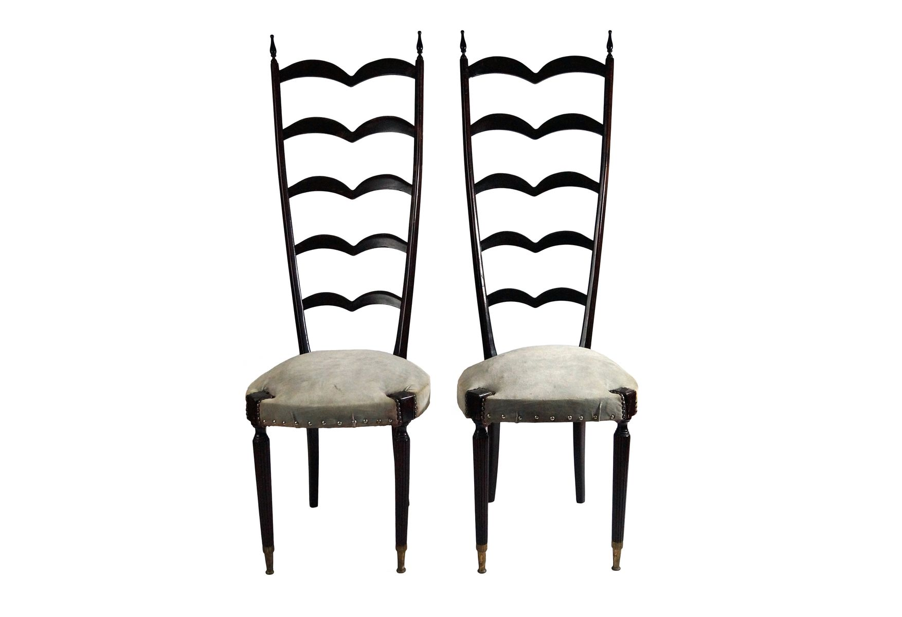 Modern Ladder Back Chairs by Paolo Buffa 1950s Set of 2 for sale