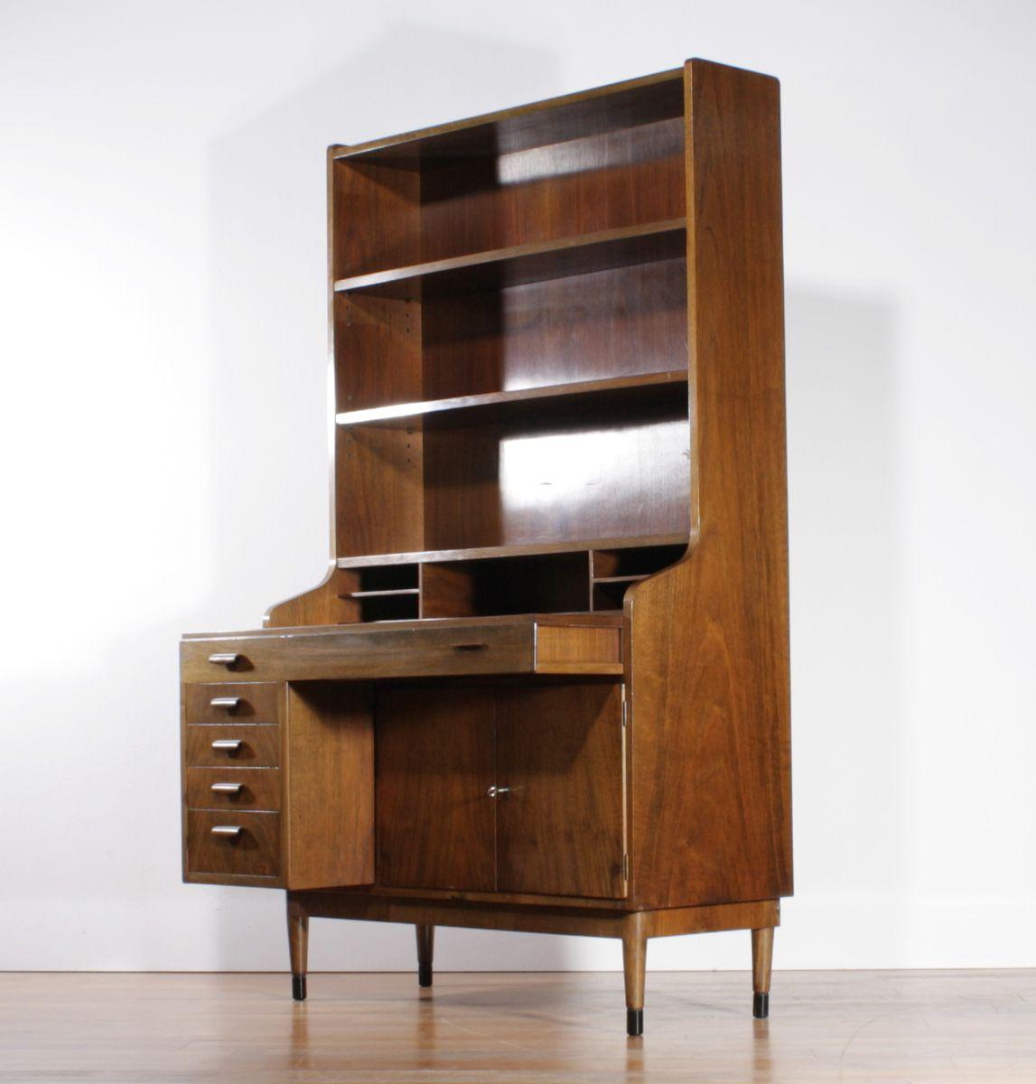 large vintage teak secretaire cabinet for sale at pamono. Black Bedroom Furniture Sets. Home Design Ideas