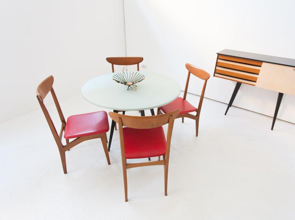 schwedische mid century skai st hle 1960er 6er set bei pamono kaufen. Black Bedroom Furniture Sets. Home Design Ideas