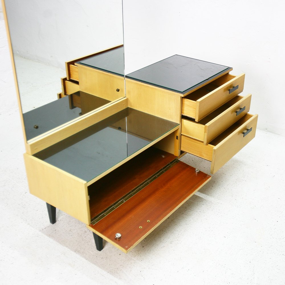Table Dressing Wood 1950 Scarved ~ Dressing table mirror s for sale at pamono