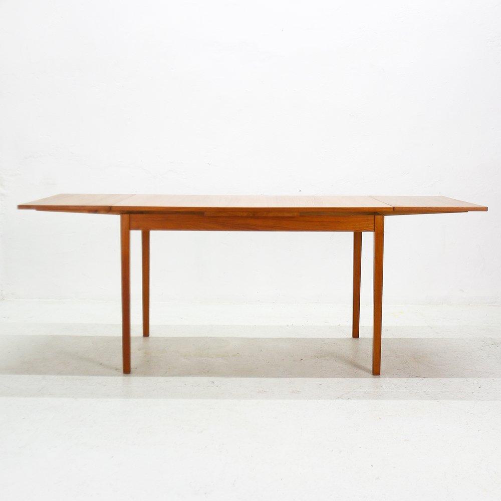 ausziehbarer esstisch aus teak 1960er bei pamono kaufen. Black Bedroom Furniture Sets. Home Design Ideas