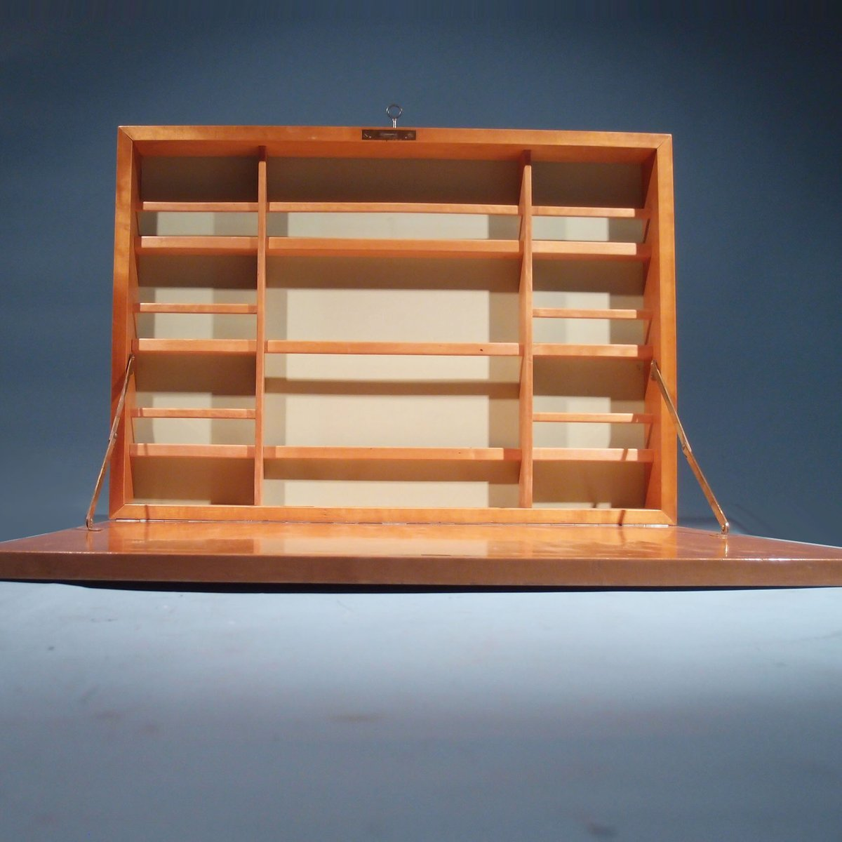 wall mounted writing desk This beautiful wall-mounted desk folds away to near invisibility  desk that bolts to the wall and  all that time spent writing letters while.
