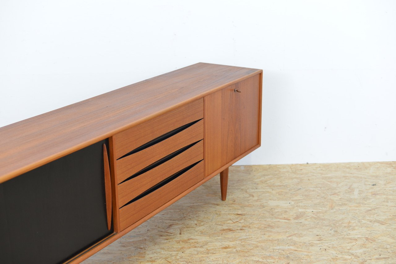 swiss teak sideboard by m bel pfister 1960s for sale at. Black Bedroom Furniture Sets. Home Design Ideas