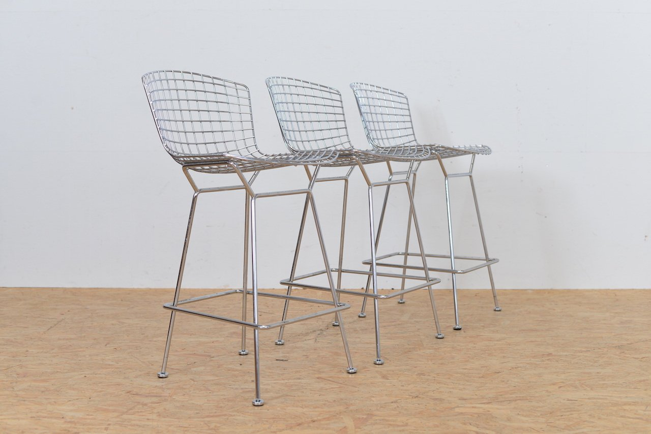 Wireside bar stool by harry bertoia for knoll for sale at pamono - Tabouret bar bertoia ...