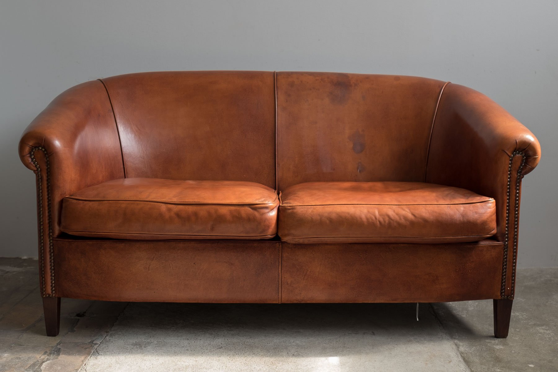 Vintage Leather Two Seater Sofa 1970s For Sale At Pamono
