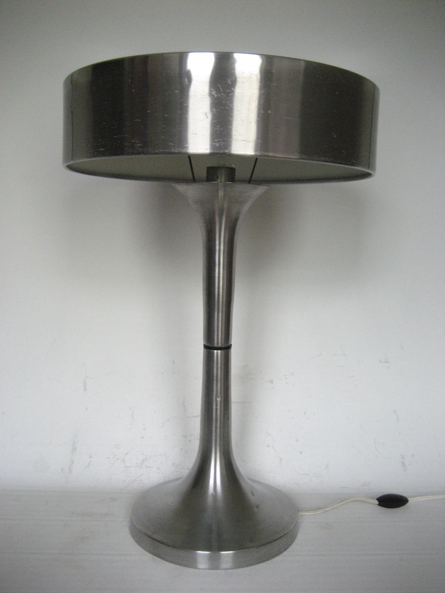 vintage aluminum table lamp for sale at pamono lamps for lighting and ceiling fans in color black style