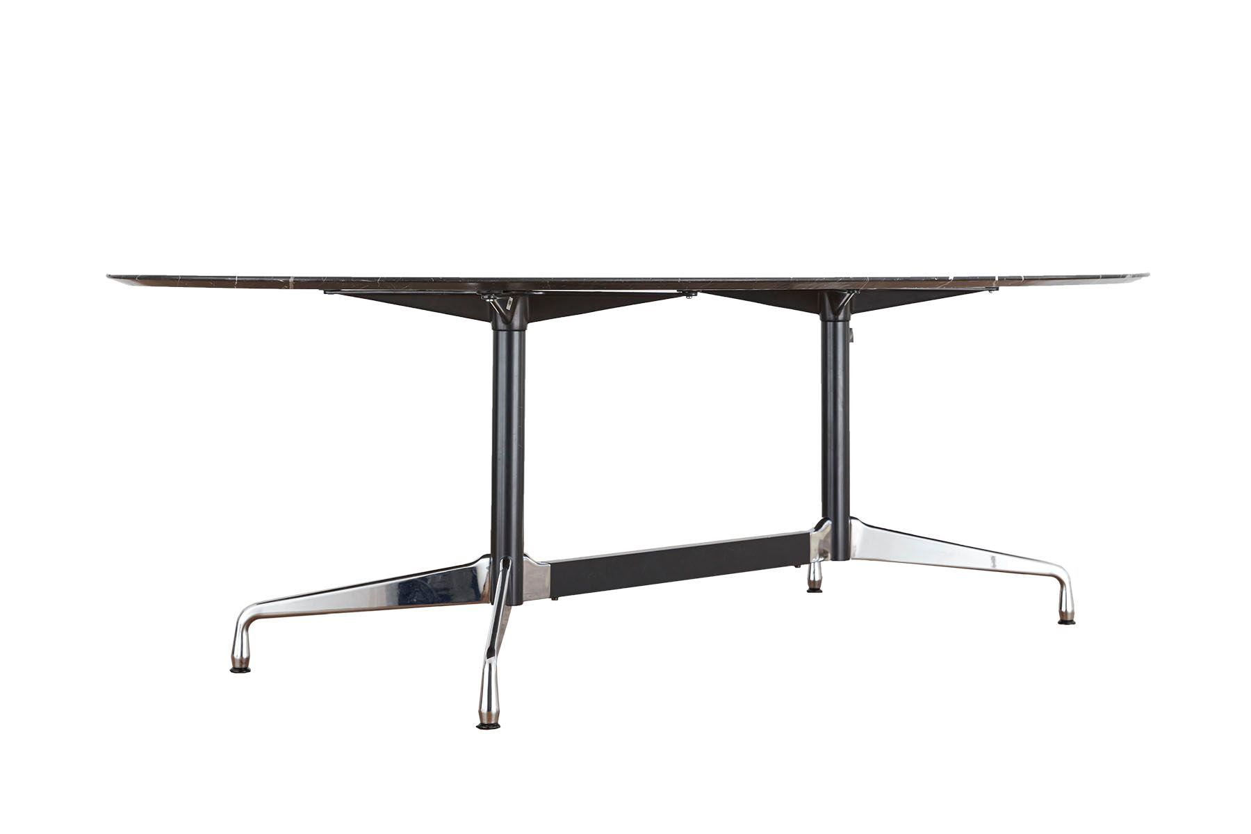 segmentierter tisch aus schwarzen marmor von charles ray eames f r vitra bei pamono kaufen. Black Bedroom Furniture Sets. Home Design Ideas