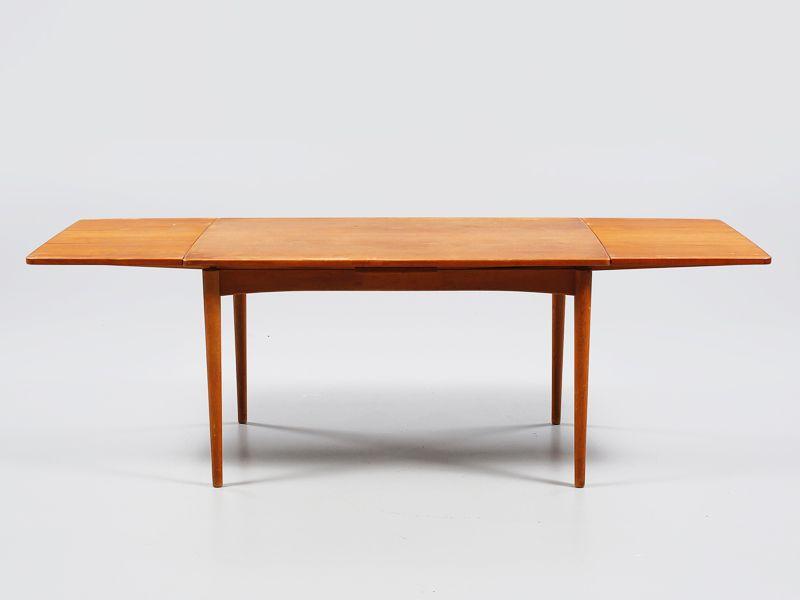 Danish Rectangular Teak Dining Table By Arne Hovmand Olsen For Skovmand U0026  Anderson, 1950s