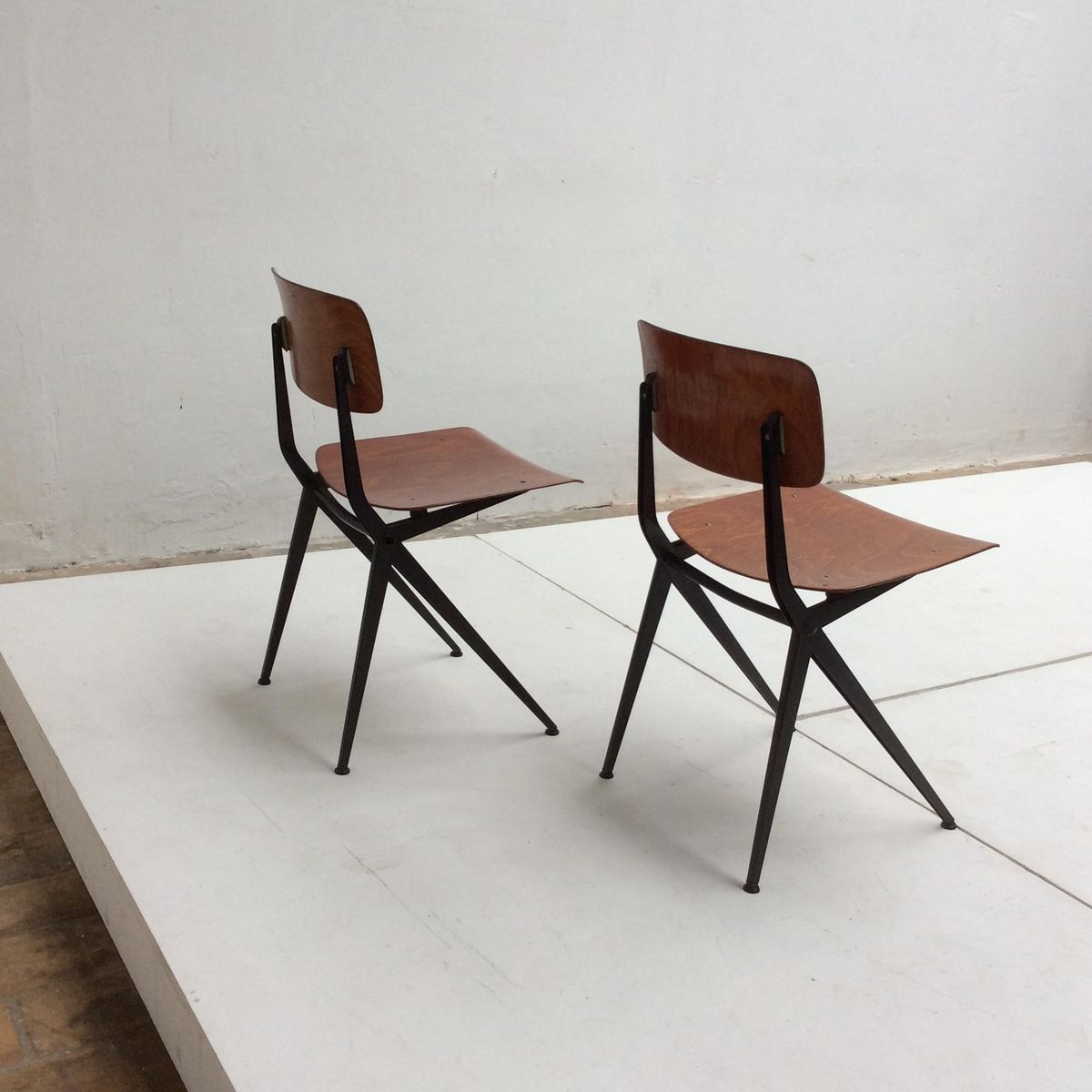 Dutch compass leg chairs from marko 1960s set of 2 for for Dutch design chair uk