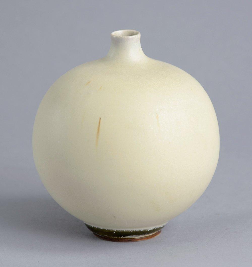 swedish round vase by berndt friberg for gustavsberg 1950. Black Bedroom Furniture Sets. Home Design Ideas