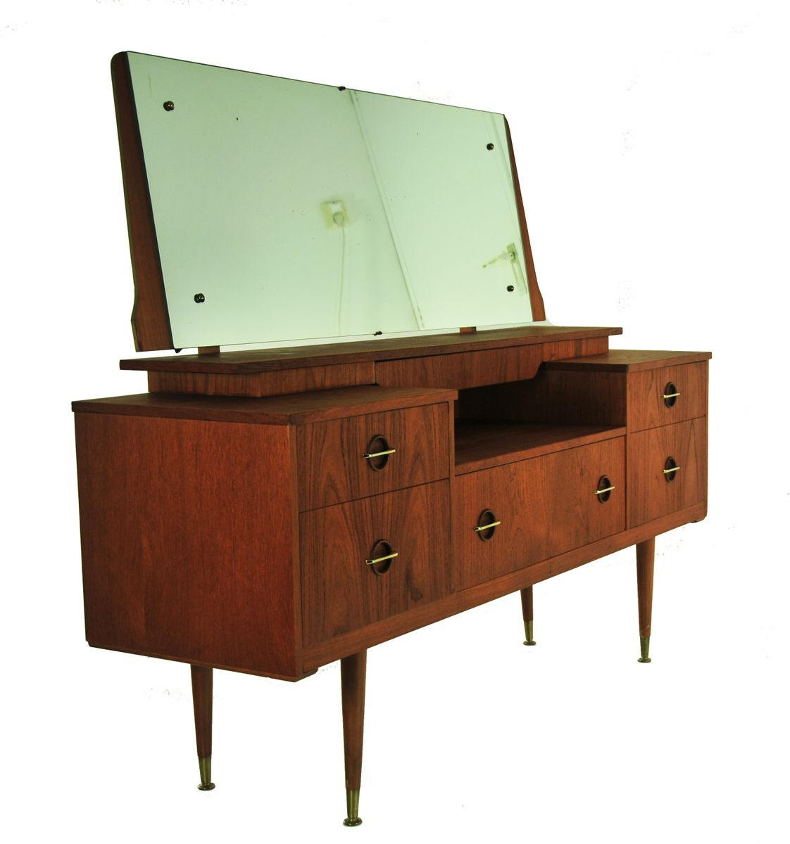 Oak With Brass Dressing Table For Sale At Pamono