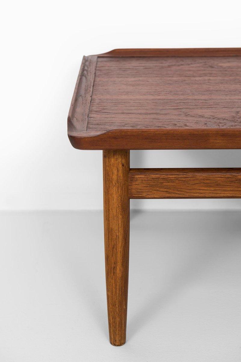 Teak and Oak Side Tables by Kurt stervig for Jason Mbler Set of