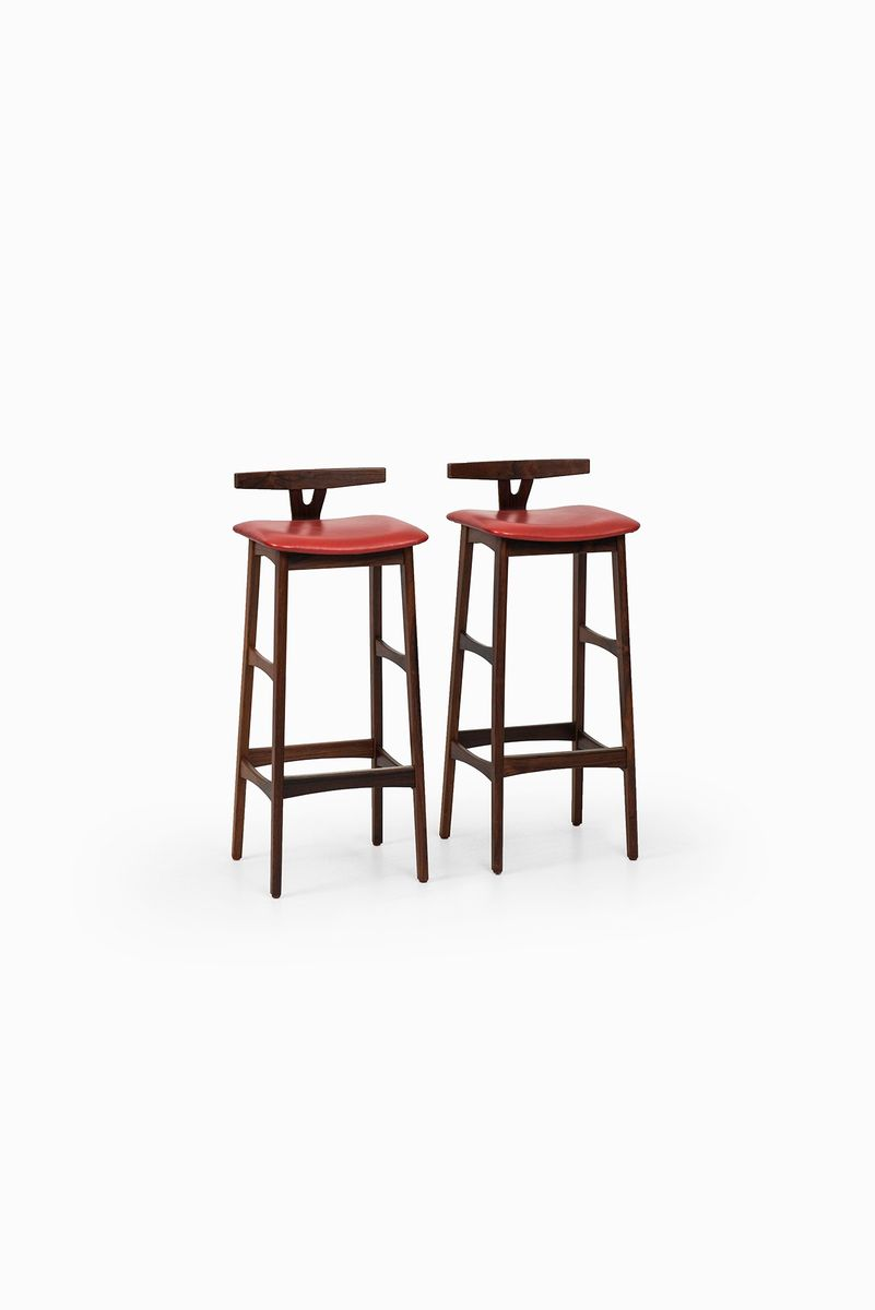 Rosewood bar stools by erik buch for dyrlund set of 2 for sale at pamono - Erik buch bar stool ...