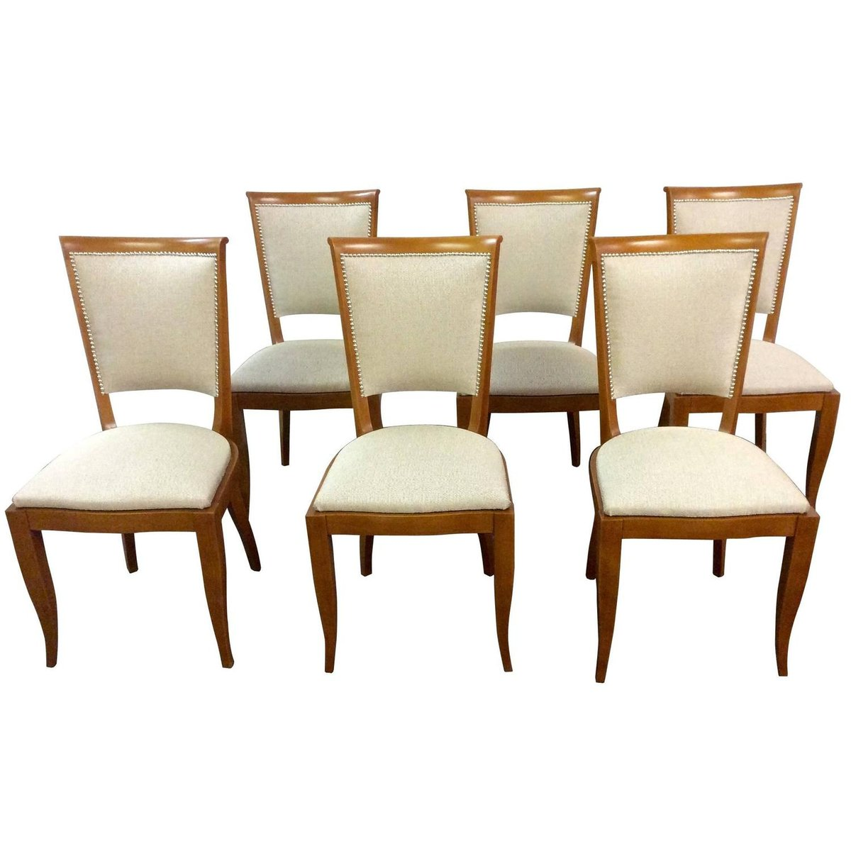 Art Deco French Dining Chairs 1930s Set Of 6 For Sale At