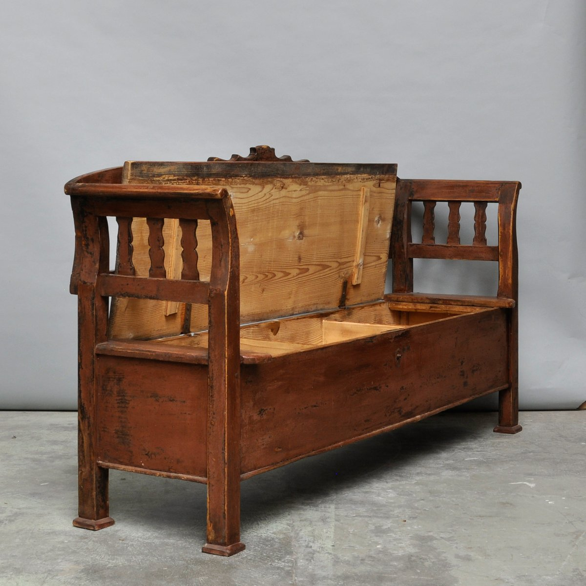 Vitage Hungarian Storage Bench 1920s For Sale At Pamono