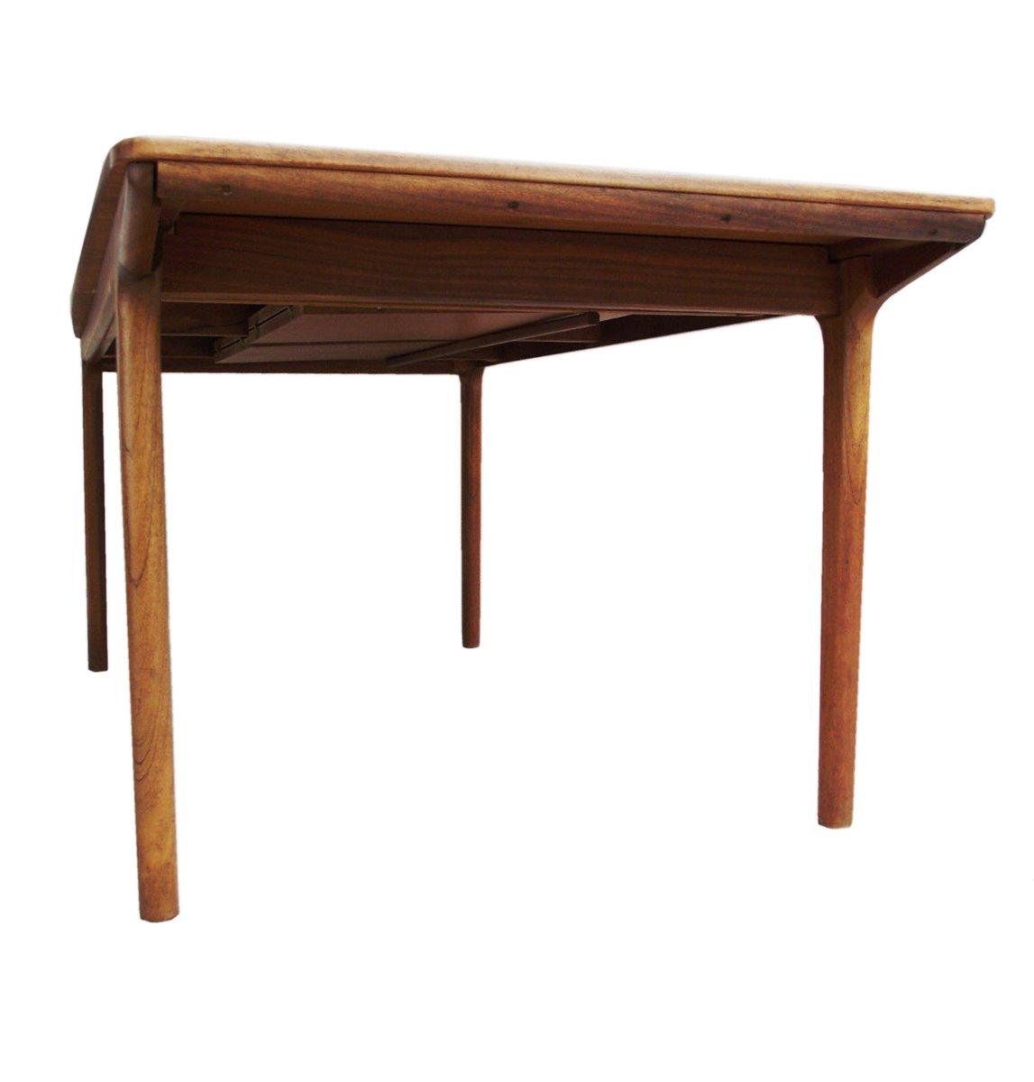 gro er mid century 12 sitzer esstisch aus teakholz von tom. Black Bedroom Furniture Sets. Home Design Ideas