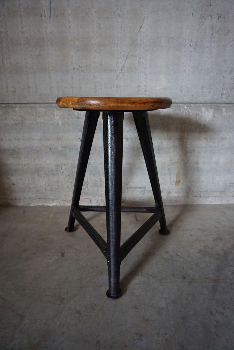 Vintage Industrial Stool 30