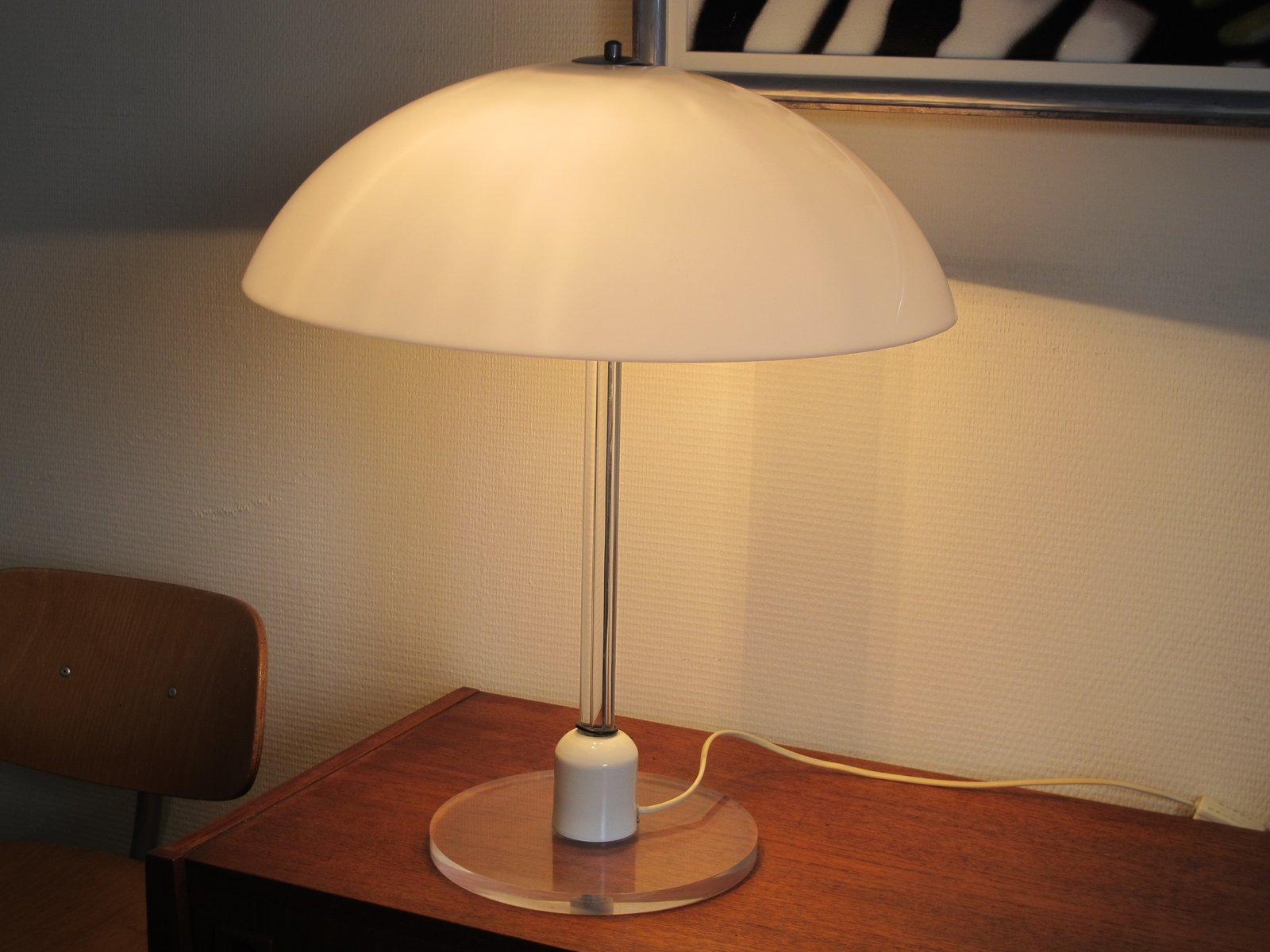 Vintage lucite table lamp from harco loor for sale at pamono geotapseo Images